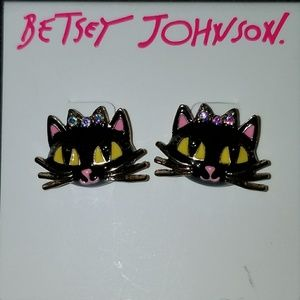 Betsey Johnson Sassy Cat Earrings